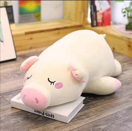 hot beds Australia - Pig doll latest hot style version of plush toys, sleep pillow big doll doll lovely children birthday gift on the bed