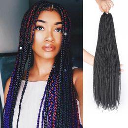 venda por atacado Moda micro tranças rendas frente perucas sintéticas crochet torção trançado perucas de cabelo