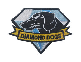 Metal Gear Patch Australia - MGS Metal Gear Solid Metal Gear 5 Diamond Dogs Army Embroidery Badge Morale Embroidered Patch Appliques Hook & Loop