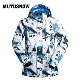 Polyester Jacket Windproof Australia - MUTUSNOW Ski Jacket Men Brands 2019 New Windproof Waterproof Breathable Male Snow Ski Coat Hiking Winter Skiing And Snowboard Jacket Men