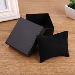 Square red Storage box online shopping - Cardboard Watch Box paper Fashion Black Blue Red Watch Gift Case Rectangle Watch Storage Boxes Case Package