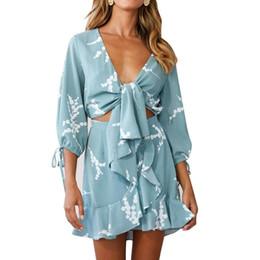 $enCountryForm.capitalKeyWord Australia - Dress Woman 2019 Autumn Winter New hot selling sexy bow print leaf edge skirt