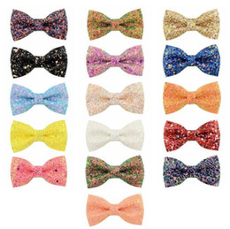 $enCountryForm.capitalKeyWord Australia - Sequin Big Bow DIY Headbands Accessories Baby Boutique Hair Bows without Alligator Clip for Girls 16colors choose