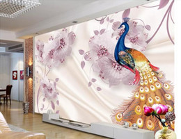 $enCountryForm.capitalKeyWord Australia - Custom wallpaper European painted Graceful Huagui jade carving Peony Peacock 3D sofa TV mural background 3D wallpaper