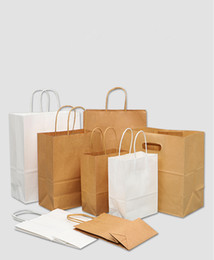 Brown Paper Bags with Handles Bulk Gift Bags,Wedding Bag Party Bag Shopping Bags, Kraft Bags, Retail Bag 95% Post Consumer Materials & FSC on Sale