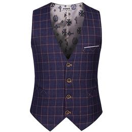 $enCountryForm.capitalKeyWord Australia - 2017 New Men's Vest Plaid Suit Slim Colete High Quality For Gentleman Wear Asian Size S-3xl Y190420
