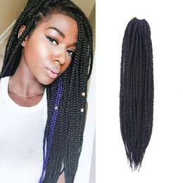$enCountryForm.capitalKeyWord Australia - Hot Sale! 5Pcs Full Head 3S Box Braids Crochet Hair Extensions Kanekalon Two Tone Ombre Braiding Hair Synthetic Crochet Box Braids