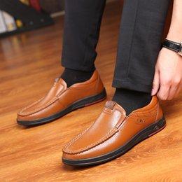 $enCountryForm.capitalKeyWord Australia - Mannen Casual Lederen Schoenen Slip Op Luie Enkele Man Loafers Business Office Werk Voor Mannelijke