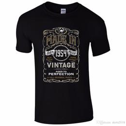 $enCountryForm.capitalKeyWord NZ - Designer Shirts Crew Neck Short Made In 1954 T-Shirt Born 64Th Year Birthday Age Present Vintage Funny Mens Gift Office Mens Tee