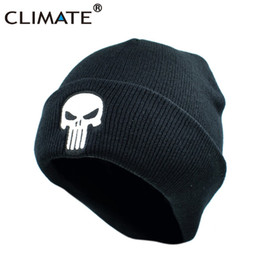 $enCountryForm.capitalKeyWord Australia - CLIMATE The Punisher Cool Black Skulls Winter Warm Beanie Men Skeleton Justiceiro Castigador Knitted Hat Adult Teenagers Boy