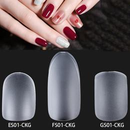 $enCountryForm.capitalKeyWord Australia - 300 PCS Box Professional Different Styles Acrylic Nail Tips Full Cover Ultra-Thin Matte Surface Polished False Nail Tips