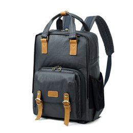 High Quality Dslr Camera Australia - Traval Dslr Camera Bag High Quality Backpack Waterproof Canvas Men Women Large Backpack For Canon nikon Camera Photography