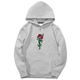 Rose pRinted sweatshiRt online shopping - Rose Printing Sweatshirts Mens Hoodie Autumn Spring Hot Sale Hip Hop Pullover Sweatshirts Men High Street Hoody