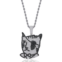 $enCountryForm.capitalKeyWord Australia - Pirate one-eyed cat Pendants Designer Necklace Mens Hip Hop Jewelry 18K Gold Plated Summer Fashion Gold Necklaces