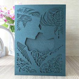 $enCountryForm.capitalKeyWord Australia - 40Pcs  lot Romantic Wedding Invitation Card Lovely Exquisite Envelope Bride And Groom Wedding Bridal Shower Fancy Dress Party Decoration
