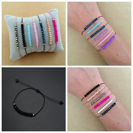 $enCountryForm.capitalKeyWord Australia - natural stones and minerals Faceted Crystal Beads bracelet Macrame Friendship Bracelet femme birthday gifts bracelets for women