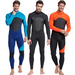 2f922269c40 3MM Thickening Keep Warm Diving Suit Winter Outdoors Anti Wear Wetsuits  Conjoined Long Sleeves Swimsuit Fold Portable Hot Sale 160yrI1