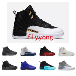 358ffc2db863bb Original Cheap 12 Bordeaux Dark Grey Wool 12s Basketball Shoes White Flu  Game UNC Wolf Grey Gym RedGamma French Blue Suede Basketball Shoes