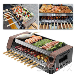 HOT Household automatic rotating smokeless home barbecue hot dog automatic rotating barbecue machine mutton skewers machine on Sale