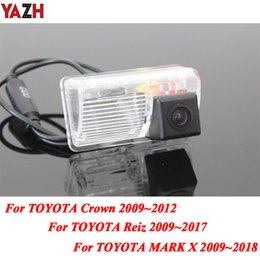 x vision camera Canada - YAZH 4 LED Car CCD Rear View Camera Parking Reverse Wireless Camera For Reiz Mark X Crown 2009~2017 HD Night Vision Cam