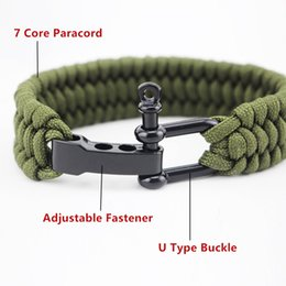 umbrella rope UK - 23CM EDC Camping Hiking Emergency Tactical Survival Braided Rescue Umbrella Rope Outdoor Bracelets Parachute Cord Paracord