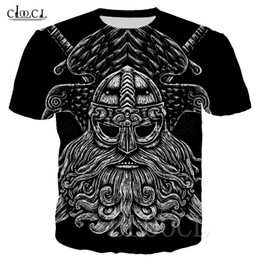 Wholesale couples tattoos resale online - 2020 Fashion Nordic Viking Tattoo Skull T Shirt Women Men D Print Short Sleeve Tops Hip Hop Couples Streetwear Pullovers