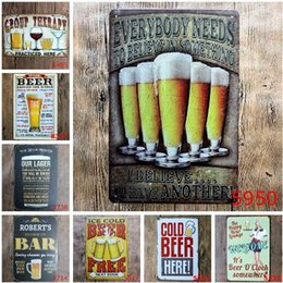 metal shopping 2019 - Ice Cold Drinks Decoration Coke Cola Metal Tin Signs Classic Poster Vintage Plaque Pub Bar Club Cafe Shop Home Wall Deco
