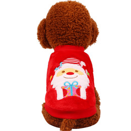 Smallest Teddy Bear UK - Pet clothes autumn and winter Christmas Teddy Bear small dog cartoon pattern two feet clothes