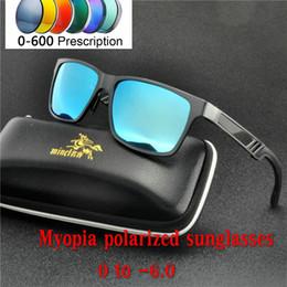 2b4ad3e8f86 2019 Myopia polarized sunglasses Unisex Square Vintage Sun Glasses Brand  Prescription minus Sunglasses retro For Women Men NX