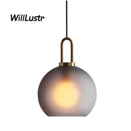 $enCountryForm.capitalKeyWord UK - Modern Frosted Glass Pendant Lamp Globe Cylinder Shape Suspension Lighting Bedroom Hotel Cafe Affordable Luxury Hanging Light