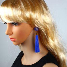 $enCountryForm.capitalKeyWord Australia - Boho Crystal Long Tassel Drop Earrings For women Ethnic Geometric Rose flower Sign Dangle Statement Earring Fashion Jewelry in Bulk A0068