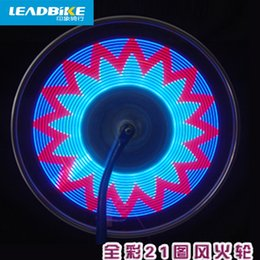$enCountryForm.capitalKeyWord UK - Leadbike Lamp Bycicle LED Light Accessories Wheel Light Double Display 21 Flash Patterns With 32 RGB LED Lights Lamp for Bikes #711337