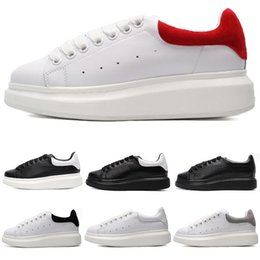 9af19b01a Designer Luxury Casual Shoes White Leather For Women Men Run Black Red Oreo  Fashion Comfortable Flat Platform Outdoor Sport Sneakers