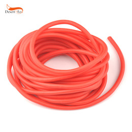 slingshot rubber replacement NZ - Latex Tube Outdoor Rubber Slingshot 5mm*5 10M Red Replacement Band Natural Latex Tube for Hunting Catapults Slings Rubber