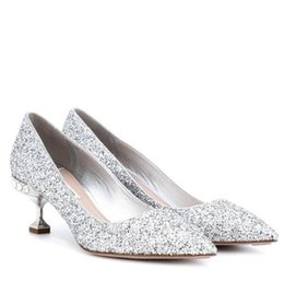 Women Silver Shoes Kitten Heel Australia - Hot Sale-New 2019 Spring Autumn Women Pumps Sexy Silver High Heels Shoes Fashion Rhinestone Wedding Party Shoes