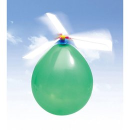 Toy Helicopter Wholesale Australia - Funny Traditional Classic Sound Balloon Helicopter UFO Kids Child Children Play Flying Toy Ball Outdoor Fun Sports Toy Xmas Gift