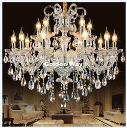 Art deco style bedroom online shopping - Modern Crystal Chandelier Clear Hanging Lighting European Style Chandeliers Light for Living Dining Room Restaurant Decor Lights