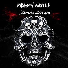 Punk Rings Australia - BEIER punk cool three skull fashion Big ring Stainless Titanium Steel Punk fashion for men jewelry Halloween party BR8-526