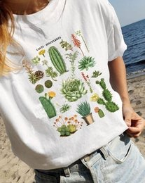 botanical prints NZ - Kuakuayu-jbh 1pcs Plant Printed Cacti Of The Desert Graphic Teevintage Inspired Botanical Desert T-shirt - Tucson Graphic Tee Y19051301