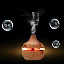Корабль падения Epack 200мл Аромат эфирного масла Диффузор Ультразвуковой увлажнитель воздуха очиститель с Wood Grain формы 7 LED Изменение света для офиса на Распродаже