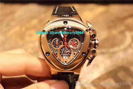 $enCountryForm.capitalKeyWord Australia - Newest Oversize Sport Car Mens Watch Rose Gold Case VK Quartz Chronograph Leather Rubber Strap Black Red Triangle Best Luminous Wristwatch