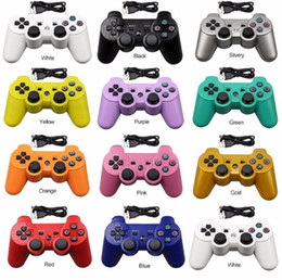 $enCountryForm.capitalKeyWord Australia - PS3. Wireless controllers 2.4GHz Bluetooth Game Controllers Double Shock for For playstation 3 PS3 Joysticks gamepad with OPP bag usb cable