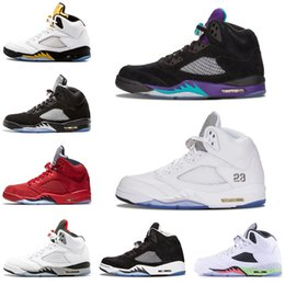 802884f155ab 2019 mens Basketball shoes 5 5s Black Grape White Cement Oreo Olympic Gold  Medal Space Jam Blue Fire Red Sport Sneakers size 7-13