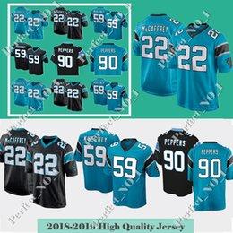4d522cc5b Mens Carolina 22 Christian McCaffrey Panther jersey 1 Cam Newton 59 Luke  Kuechly 90 Julius Peppers Panther 58 Thomas Davis Limited Jerseys