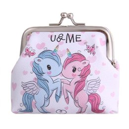 kids small pouch 2019 - Bags For Women Unicorn Coin Purses Holder Girls Kawaii Wallets And Hand Bags Mini Change Wallet Small Bag Kids Zipper Po