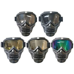 Goggles For Half Helmets Australia - Cycling Modular Mask Detachable Goggles And Mouth Filter Perfect for Open Face Motorcycle Half Helmet or Vintage Helmets