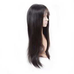 Full Wig Human Hair UK - LEDON Full Lace Wig,Straight ST, Color 1B Natural Black,Density 130%, 100% Remy Human Hair Wig,1 Piece