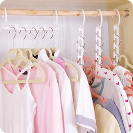 Multi Hangers Clothes Australia - Space Saver Wonder Magic Hanger Clothes Closet Organizer Hook Drying Rack Multi-Function Clothing Storage Racks Free Shipping