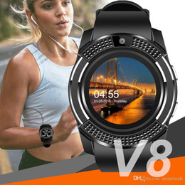 wrist watches for women Australia - Smart watch V8 watches bluetooth phone wrist with Camera Touchscreen Sim Card Slot Camera for Smartphone Android Men Women