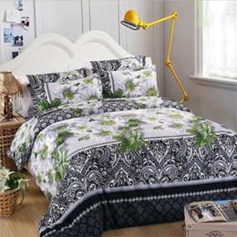 Black White Rose Bedding Australia - Home textiles cotton Leopard grain rose 3D bedding sets King size 4  3Pcs of duvet cover bed sheet pillowcase bedclothes